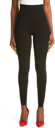 Victoria Beckham High Waist Rib Knit Stirrup Pants