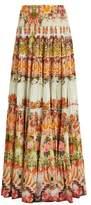 Camilla Samba Salada tiered maxi skirt