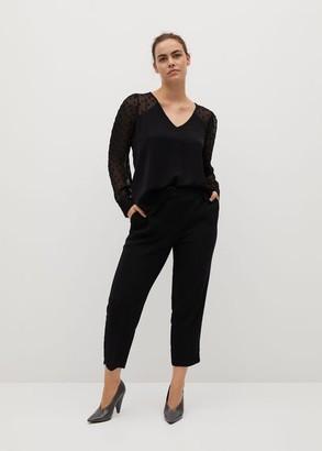 MANGO Plumeti blouse