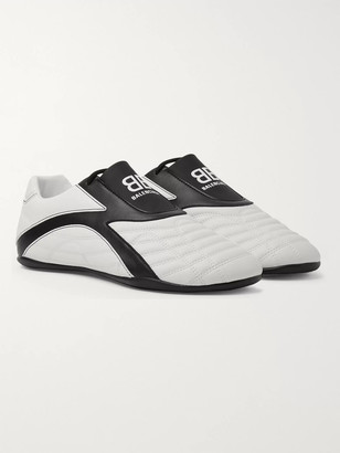 Balenciaga Zen Logo-Print Faux Leather Sneakers