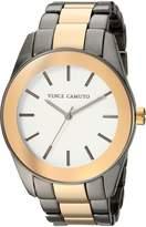 Vince Camuto Women's VC/5343GYTT Gold-Tone and Gunmetal Bracelet Watch