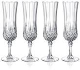 Longchamp Cristal D'Arques Set of 4 Flutes