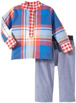 Masala Tunic Bold Check 2 Piece Set (Baby) - Multicolor-6-12 Months