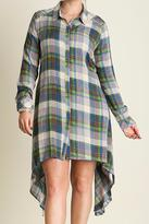 Umgee USA Plaid Shirt Dress