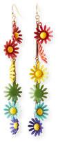 Lulu Frost Moorea Multicolor Daisy Drop Earrings