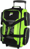 Fila Neon Green Carry-On Rolling Duffel Bag