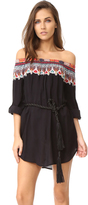 Red Carter Bohemian Breeze Off Shoulder Cover Up