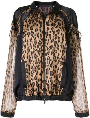 Sacai leopard print bomber jacket