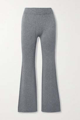 Mr. Mittens Melange Wool And Cashmere-blend Flared Pants