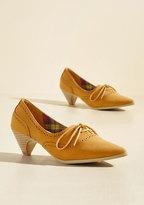 Exam Day Elegance Oxford Heel in Sunflower in 36