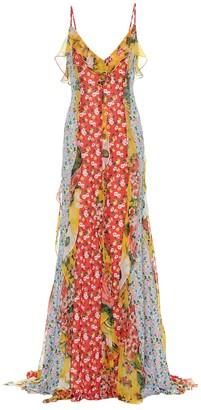 Carolina Herrera Floral chiffon gown