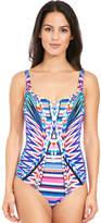 Gottex Sumatra Shaped Square Neck Swimsuit