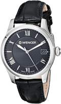 Wenger Women's 0521.104 Analog Display Swiss Quartz Black Watch