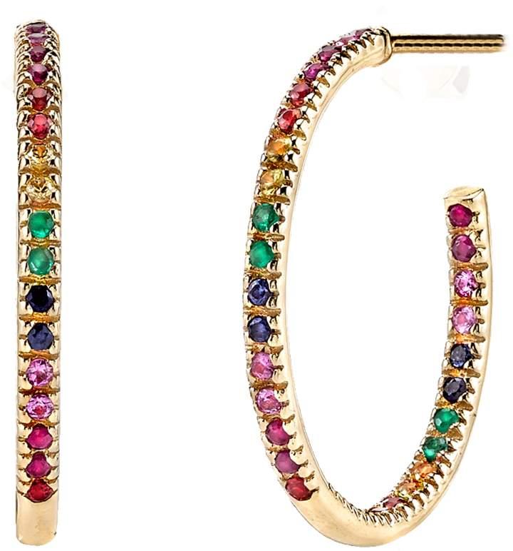 Sydney Evan Rainbow Hoop Earrings