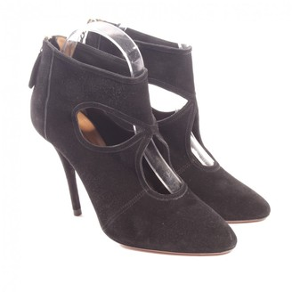 Aquazzura Sexy Thing Black Cloth Ankle boots