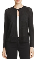 Majestic Filatures Perforated Leather Front Jacket