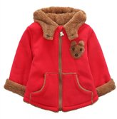 Happy Cherry 12-18 Months Infant Baby Winter Warm Hooded Cute Cartoon Outwear