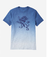 Express Ombre Embroidered Lion Graphic T-shirt