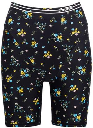 Adam Selman Sport French Cut floral biker shorts
