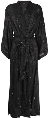 Mes Demoiselles Semiramis sequinned wrap coat