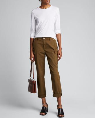 Majestic Filatures Crewneck Silk Touch Long-Sleeve Cotton T-Shirt
