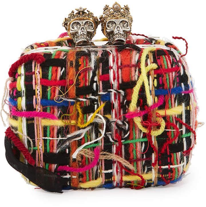 Alexander McQueen Queen & King Skull Box Clutch Bag