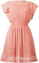 RED Valentino sheer flared dress - women - Cotton/Polyamide/Spandex/Elastane/Polyester - M
