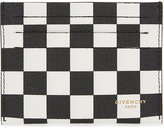 Givenchy Checkerboard Leather Card Holder