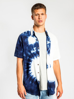Victoria's Secret The People Stevie Shirt in Ying Yang Blue White Tie Dye