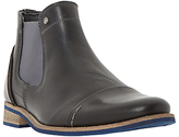 Dune Chilli Leather Chelsea Boots, Black