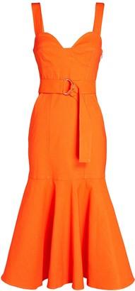 A.L.C. Sabrina Belted Midi Dress