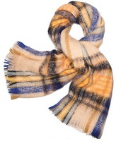 Tory Burch Brushed Shetland Plaid Scarf