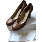 Chloé Brown Leather Heels