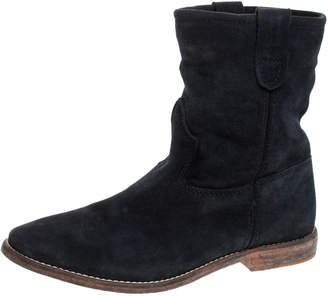 Isabel Marant Blue Suede Cluster Ankle Boots Size 37