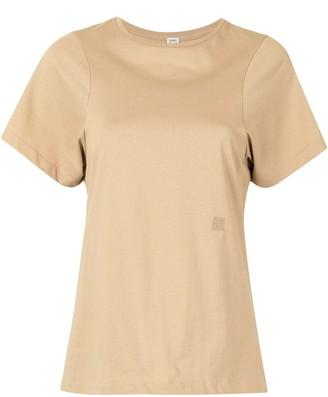 Totême embroidered logo round neck T-shirt