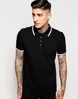 Pretty Green Polo Shirt With Single Tip