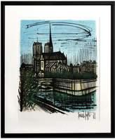 RoGallery Notre Dame by Bernard Buffet (Framed Lithograph)