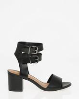 Le Château Faux Leather Ankle Cuff Sandal