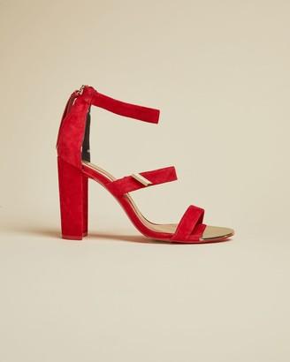 Ted Baker Suede Block Heel Sandals