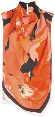 Proenza Schouler Marocaine printed sleeveless top