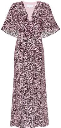 Les Rêveries Leopard-Print Silk Maxi Dress
