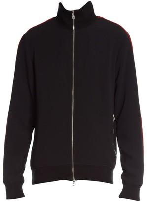 Alexander McQueen Single Crepe Zip-Up Jacket