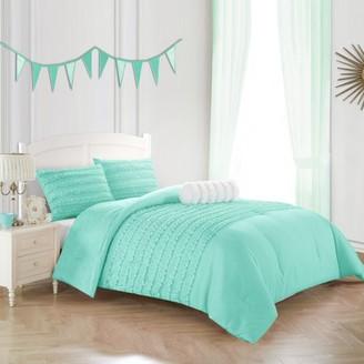 Better Homes & Gardens Kids Textured Ruffle Comforter Set, Multiple Colors/Sizes