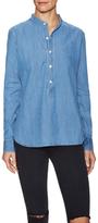 3x1 Mandarin Collar Denim Shirt