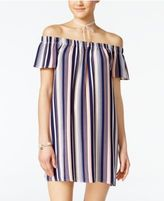 Ultra Flirt Juniors' Striped Necklace Shift Dress
