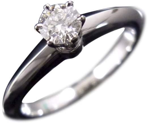 Tiffany & Co. 950 Platinum & 0.20ct Diamond Ring Size 4