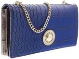 Versace EE3VOBPN1 E202 Blue Wallet On A Chain