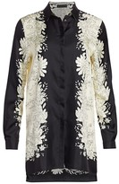 Etro Safari-Print Silk Blouse