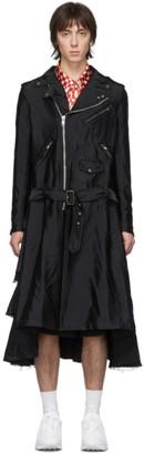 Comme des Garcons Black Garment-Treated Biker Coat