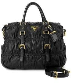 Prada Vintage Nappa Gaufre 2-Way Leather Handbag